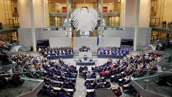 Plenarsaal Bundestag gross