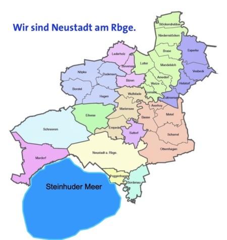 Karte Neustadt und Meer